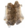 Rabbit (Hare) Fur Skin - Low Grade  Light Brown (100pc)